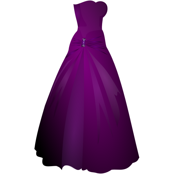 Formal purple ladies gown vector image
