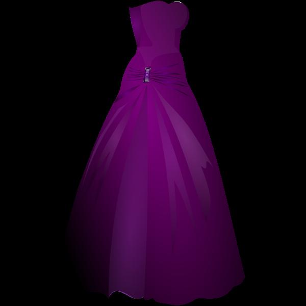 Formal purple ladies gown vector image