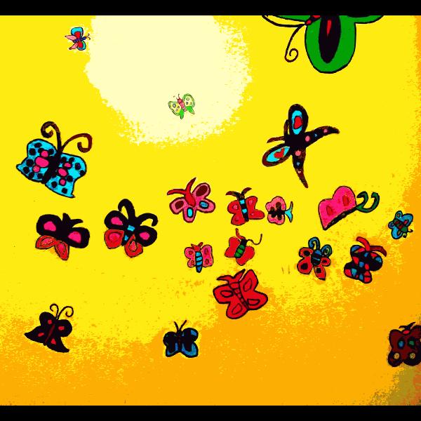 Found Mural Butterflies 1 2014111933
