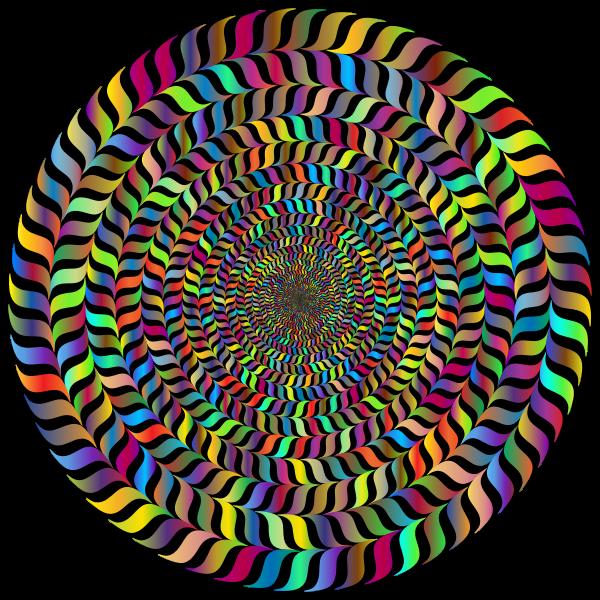 Prismatic vortex in colors