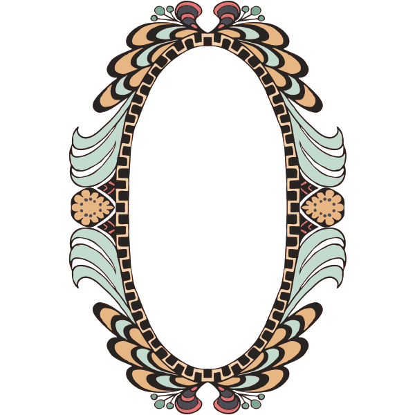 Decorated frame vintage style