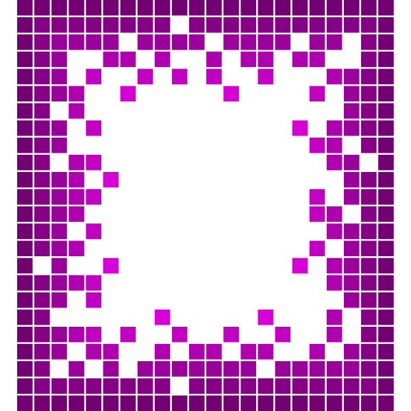 Purple frame with tiles