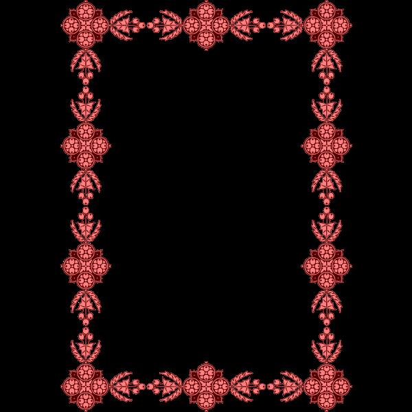 Floral frame red flowers