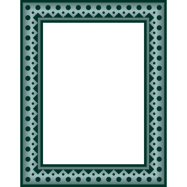 Frame  rectangular Colour grey green