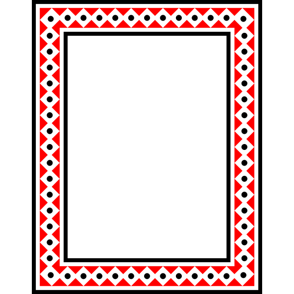 Frame Colour rectangular red