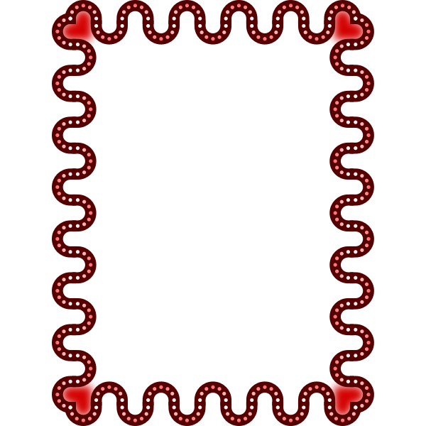 Frame red colour heart theme
