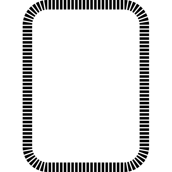 plain Frame black and white rounded square