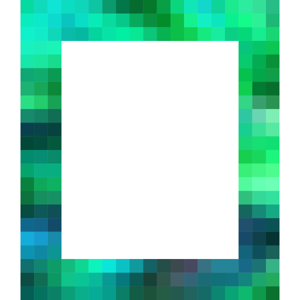 Pixelated colored frame
