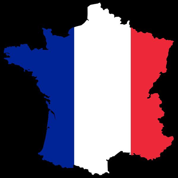 France flag map