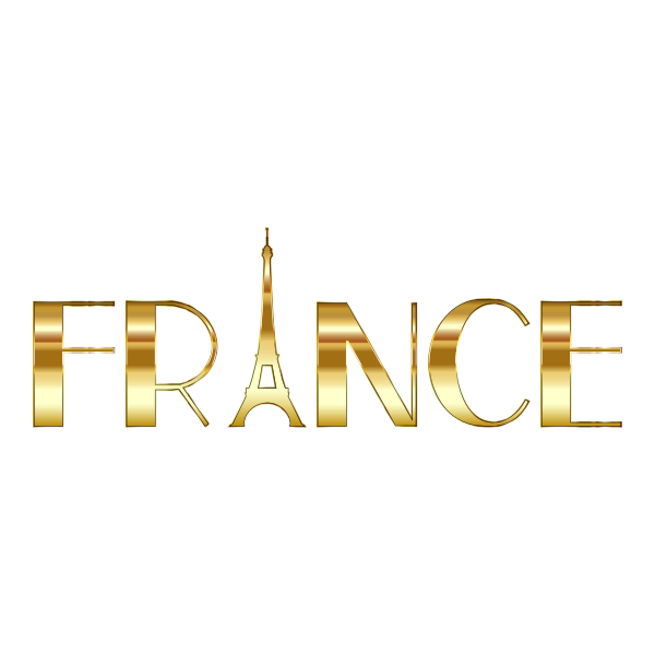 France Typography Gold