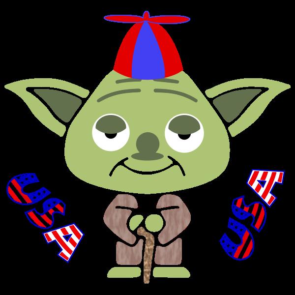 Cartoon green mouse