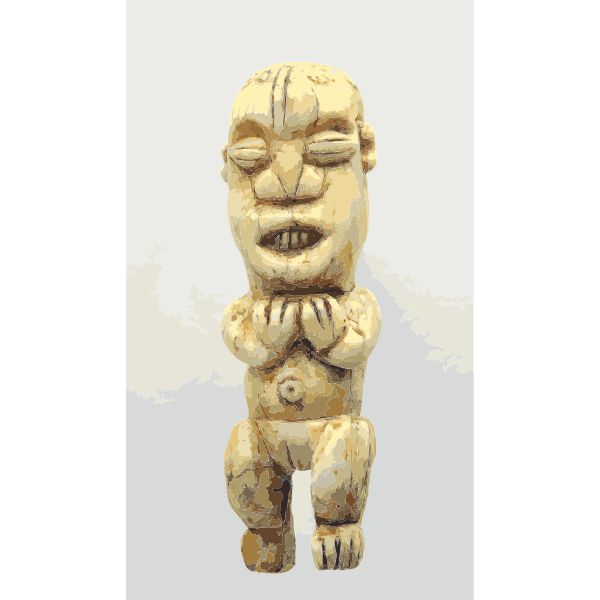 Frauenfigur Amulett mu po Kameruner Grasland Bamunkung im Staedtischen Museum Braunschweig 2016122156
