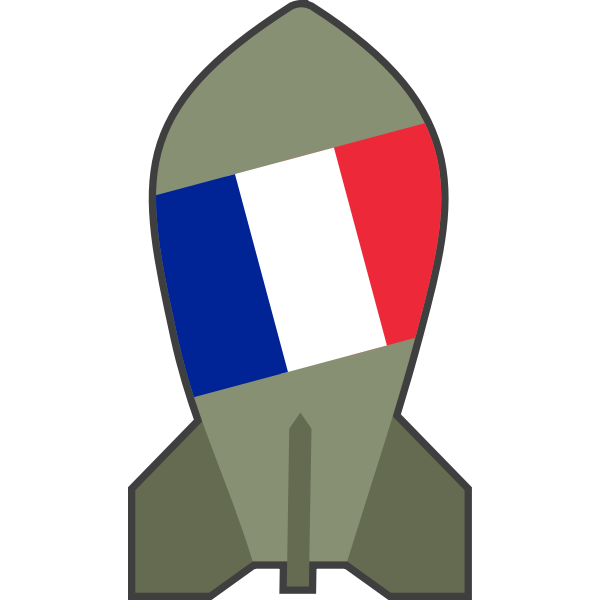 Vector graphics of hypothetical French nuclear bomb