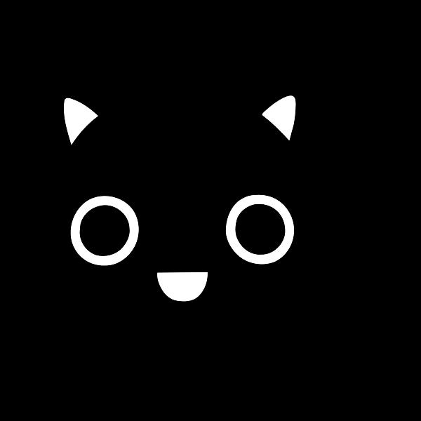 Friendly kitten icon