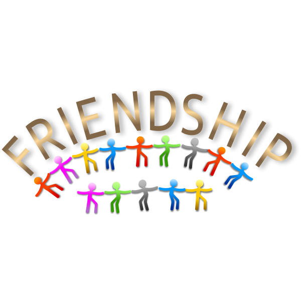 Vector image of colorful friendship logo