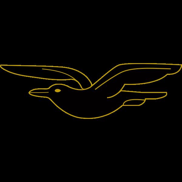 Frigate bird flying