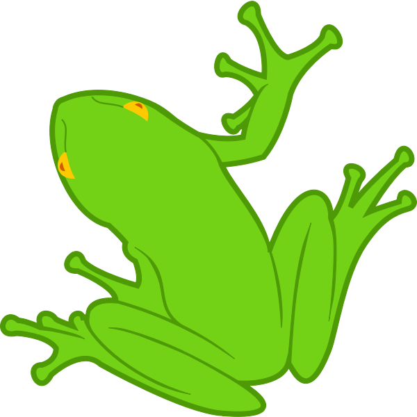 Frog clip art drawing