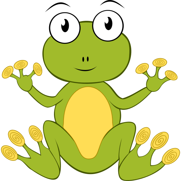 Frog vector graphics