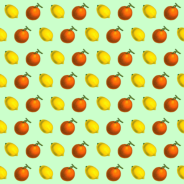 Citrus fruit pattern