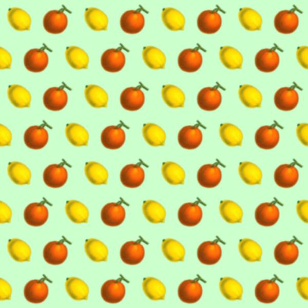 Citrus fruit pattern