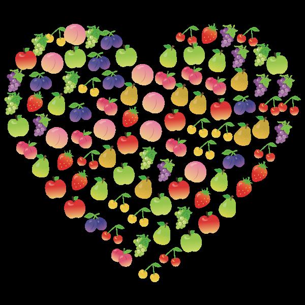 Fruits Heart Shape