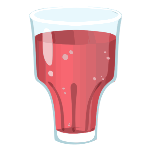 Vector drawing of strawberry juice