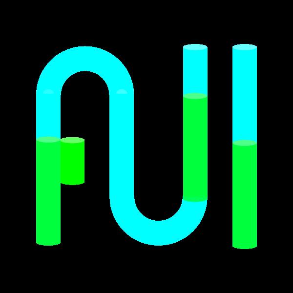 Full Tubes Green Liquid Blue Tubes Type Word