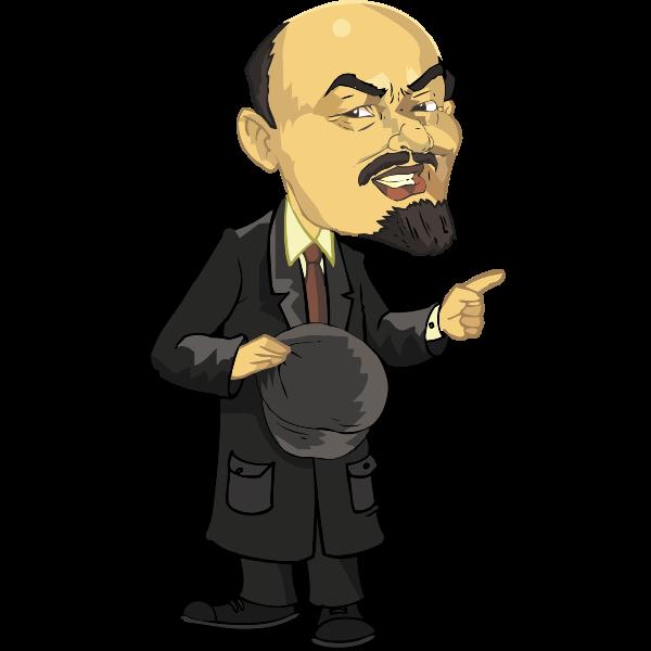 Lenin full body caricature vector image