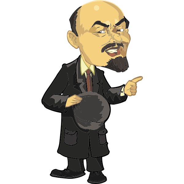 Lenin full body caricature vector image