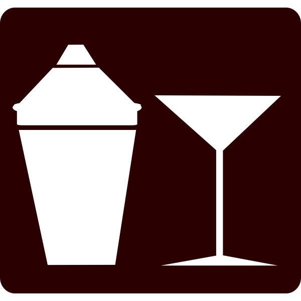 Cocktail set shaker and glass vector image