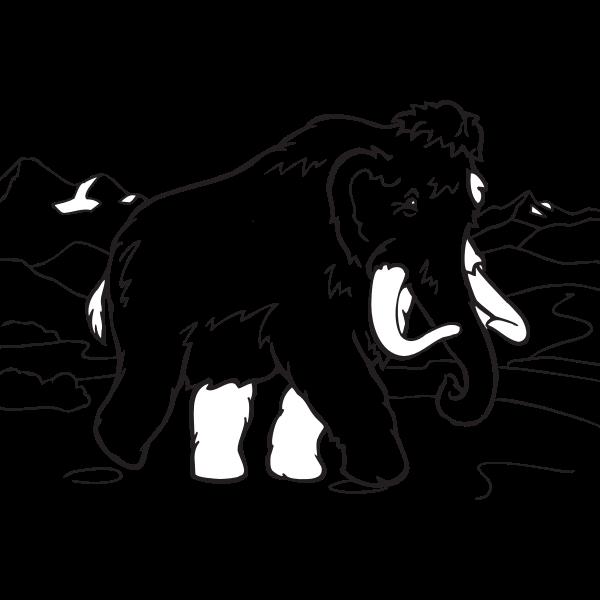 Coloring book elephant vector clip art