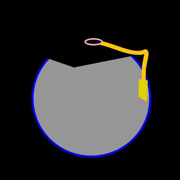 Vector illustration graduate hat