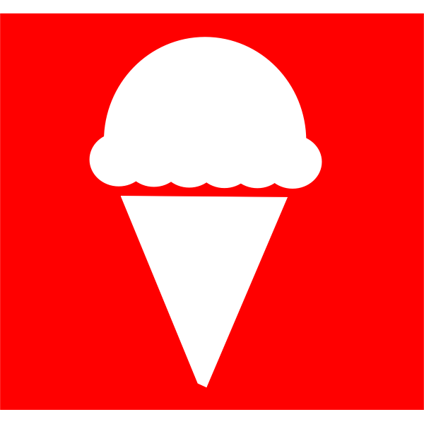 Ice cream icon vector graphics