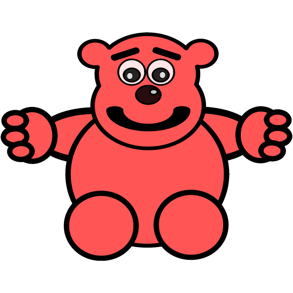 Bear toy vector clip art