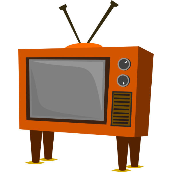 Funky old TV set vector image