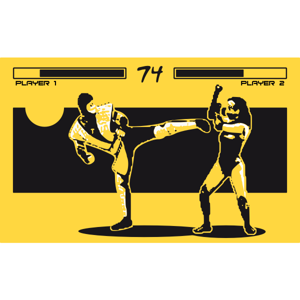 Fighting in a video game