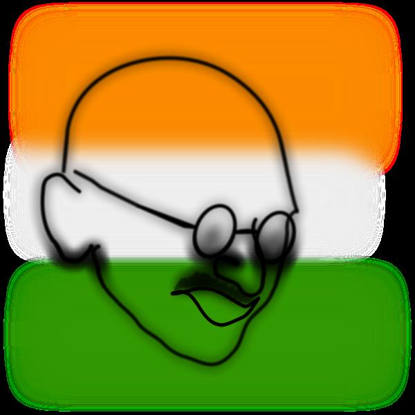 Gandhi vector image