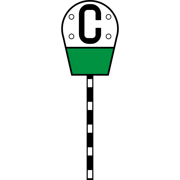 Russian railway sign filing of a whistle vector image
