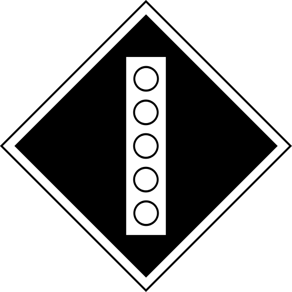 Permanent sign to raise the pantograph on the electric train carrivage vector image