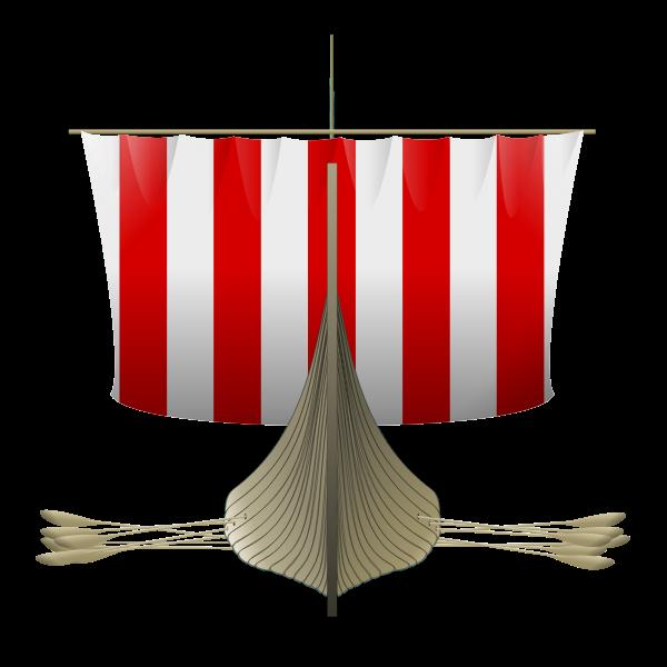 Viking Longship vector art