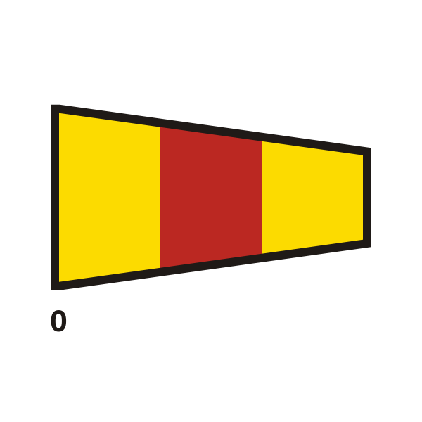 Yellow and red flag