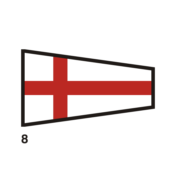 Red-crossed flag