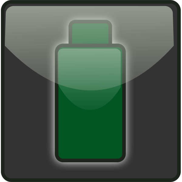 Outlined battery symbol