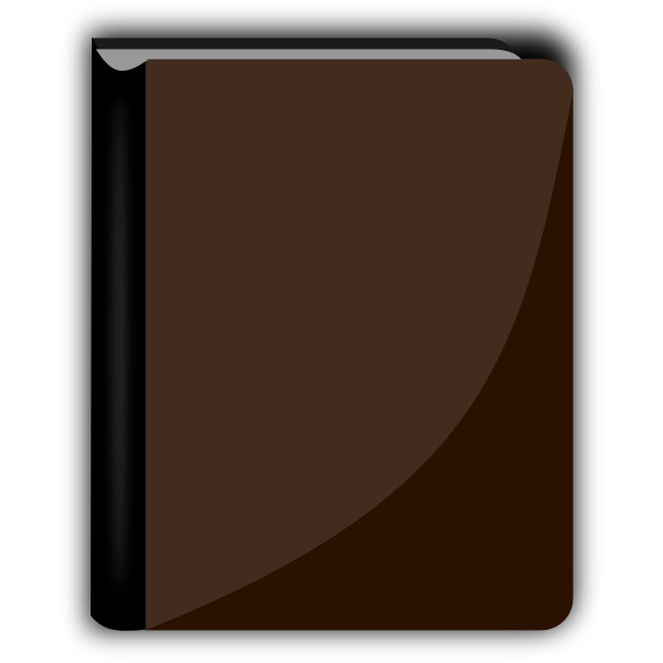 Shiny brown book