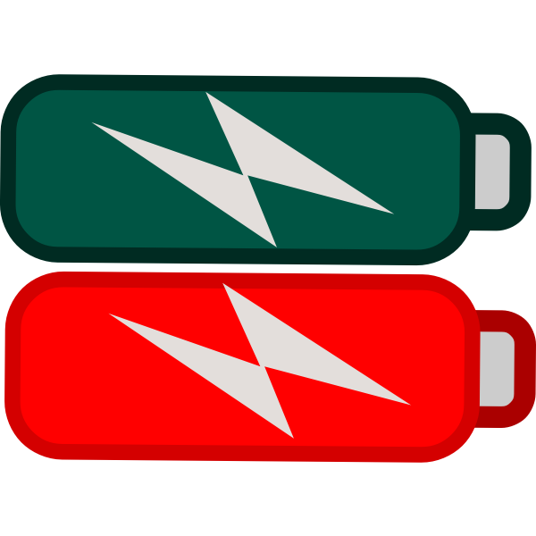 Battery red icon