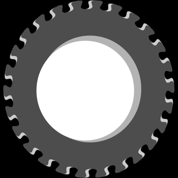 Vector image of fancy gear wheel