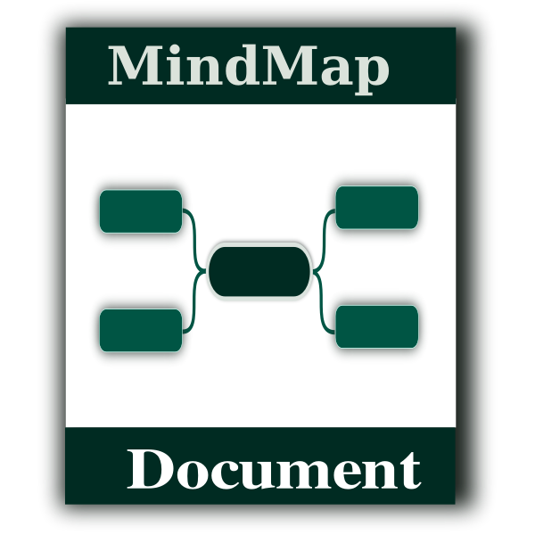 Mindmap icon vector graphics