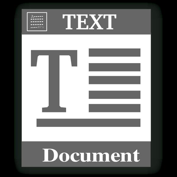 Text file web vector icon