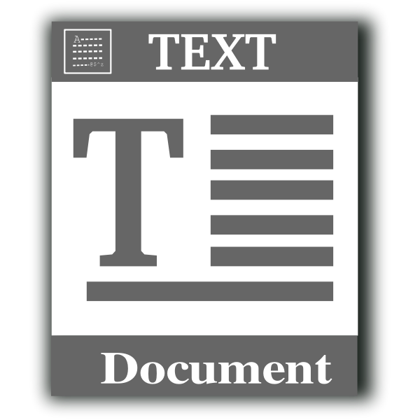 Text file web vector icon