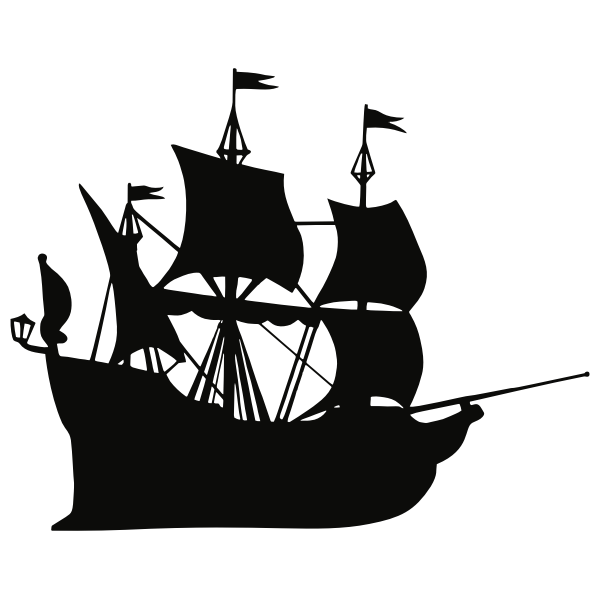 Galleon ship silhouette